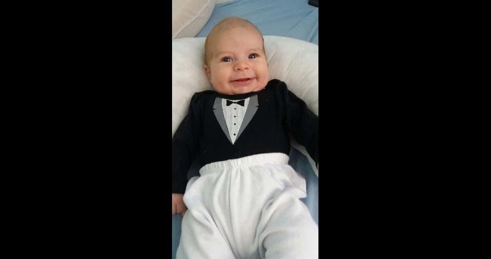 Ilmar, de Curitiba (PR), enviou a foto do filho Emanuel Vicente