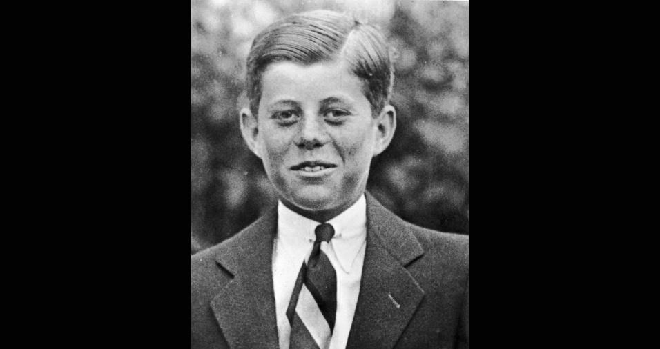 John F. Kennedy aos 10 anos, em 1927