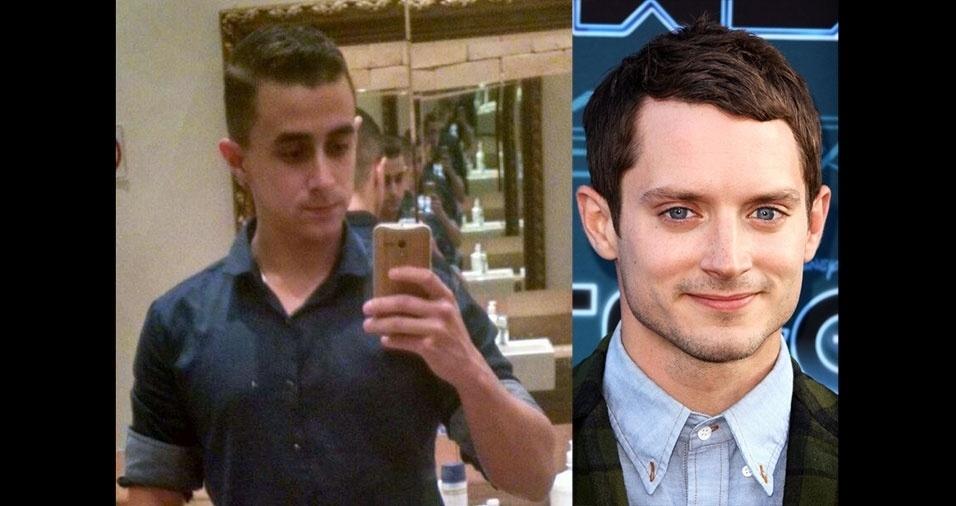 """Paulo, de Guarulhos (SP), conta: """"Minha mãe me acha parecido com o ator Elijah Wood"""""""
