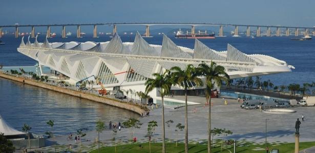 Museu do Amanhã, atração turística que integra o complexo Porto Maravilha, no Rio