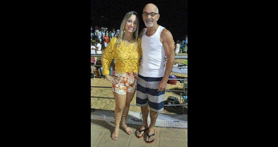A filha Helaini com o papai Edson, de Compo dos Goytacazes (RJ)
