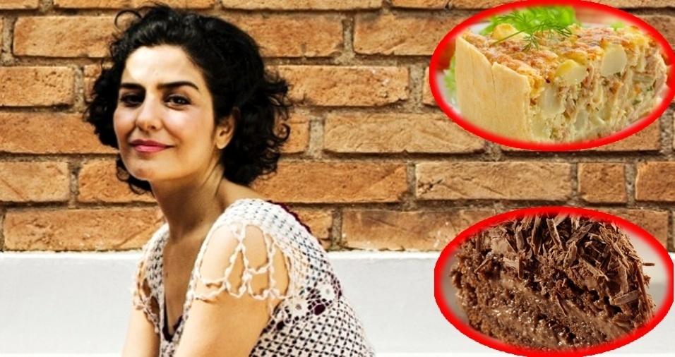 7. Letícia Sabatella - Torta de atum é seu prato salgado favorito, entre os doces, o bolo nega maluca é o queridinho