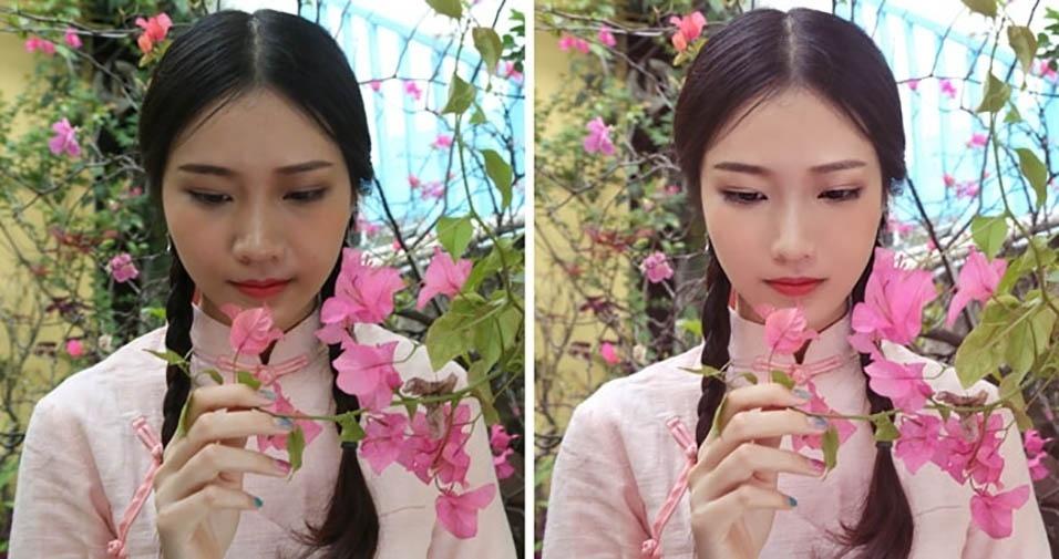 """16.jun.2017 - O site Bored Panda selecionou uma série de fotos em que Kanahoooo, uma usuária da rede social Weibo conhecida como """"Mestra do Photoshop"""", mostra por que não se deve acreditar em toda imagem que você vê nas redes sociais"""