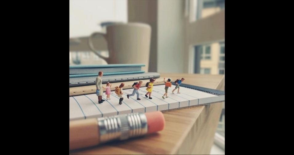 1. Na volta às aulas, conheça o fantástico mundo em miniatura de Derrick Lin, artista de Taiwan