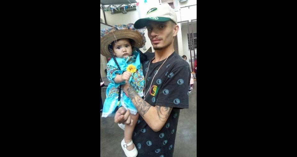 Papai Bruno com a filha Mayra, São Paulo (SP)