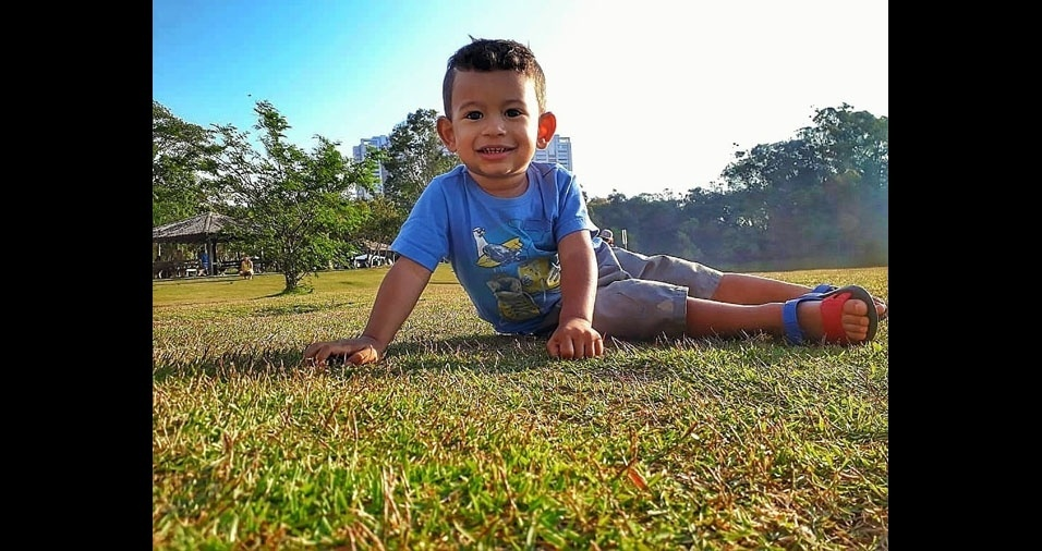 Matheus, dois anos, é o filho do Fábio José dos Santos, Suzano (SP)