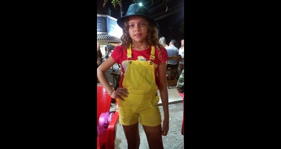 A mãe Marciane enviou foto da filha super estilosa, a Waylla