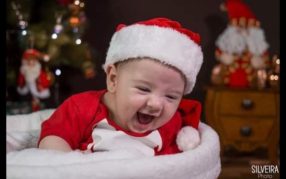 Juliana Firmino mandou foto do filho Yuri, um ano. Eles são de Mogi das Cruzes (SP)