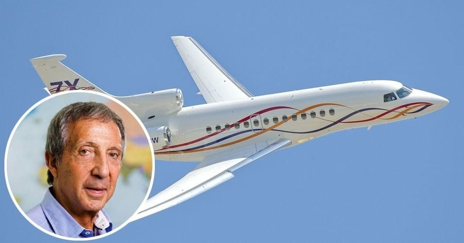 14. O empresário Abilio Diniz viaja com seu Dassault Falcon 7X, um jato trimotor com capacidade para 19 passageiros e autonomia de 11 mil quilômetros. Valor estimado: US$ 52 milhões