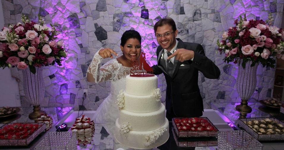 Andrea Lima Scarpini e Leandro Grundmann Scarpini casaram em 17 de setembro de 2016, em Jaú (SP)