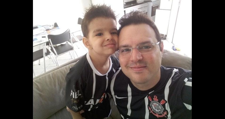 Carlos Stefany e seu filho Pedro Henrique, de Mogi Guaçu (SP)