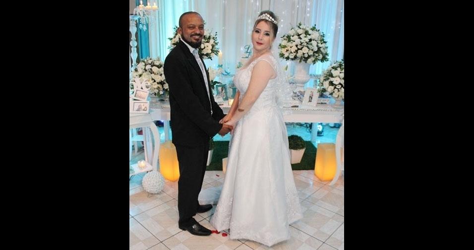Andressa Nickel de Souza e Luciano Muniz de Souza se casaram em São Paulo (SP), no dia 28 de outubro de 2017