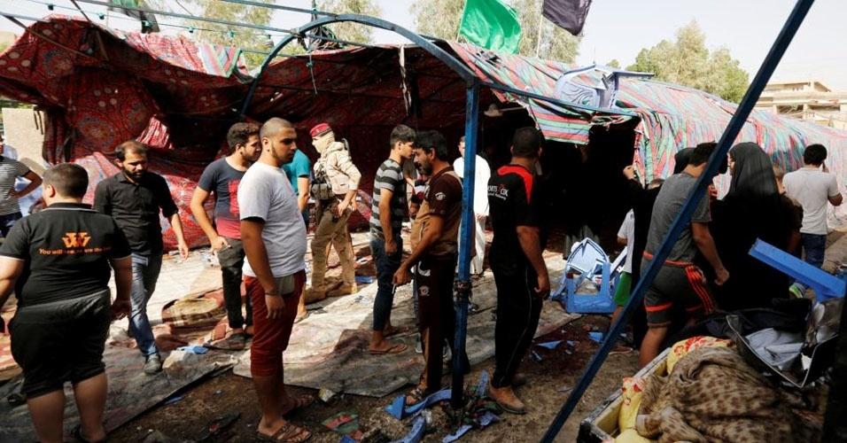 19. Bagdá, Iraque. Série de ataques, incluindo um homem-bomba, matou ao menos 46 pessoas e feriu 25, em 15 de outubro. O atentado suicida foi reivindicado pelo grupo Estado Islâmico