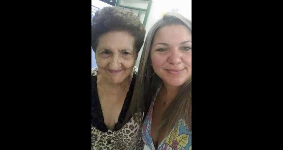 """Alexandra Fagundes da Veiga com a avó Nilza Fagundes, de Porto Alegre (RS): """"Guerreira linda"""""""