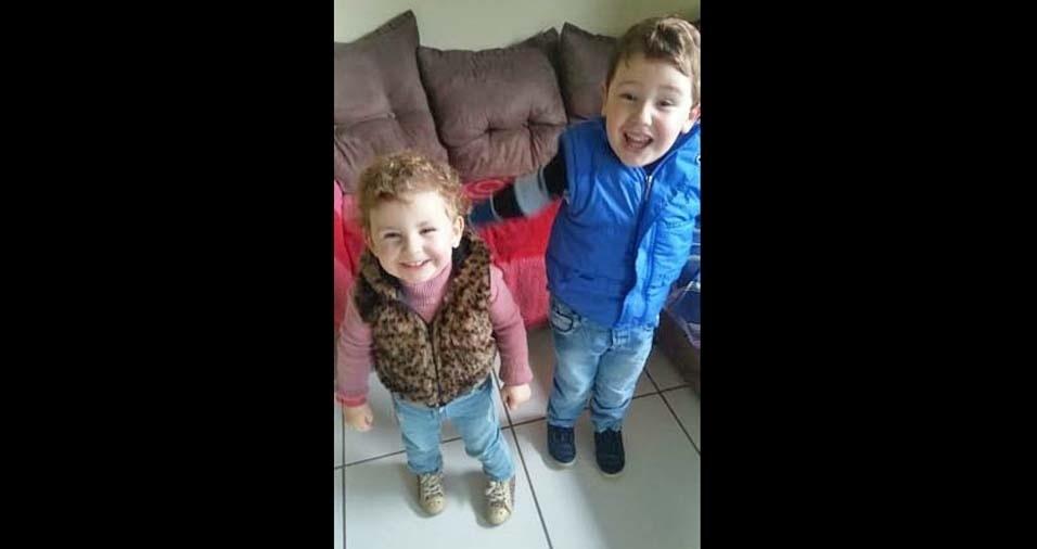 Dayane, de Lapa (PR), enviou foto dos seus amores: Adryan e Amaryllis