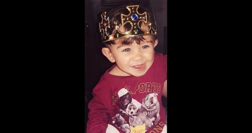Layla enviou foto de seu pequeno reizinho, o filho Enzo Henrique