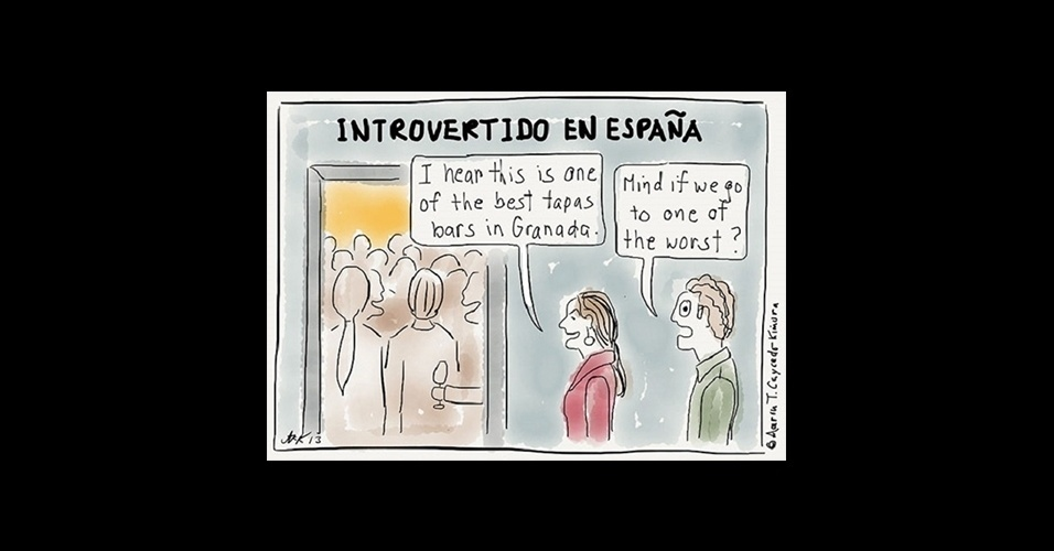 5.ago.2015 - Introvertido na Espanha - Eu ouvi que este é um dos melhores bares de tapas em Granada / Se importa se fomos a um dos piores?