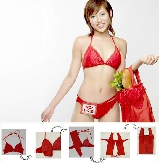 3d5c54ea6 O sutiã-sacola promete ser uma mão na roda quando a pessoa vai fazer compra