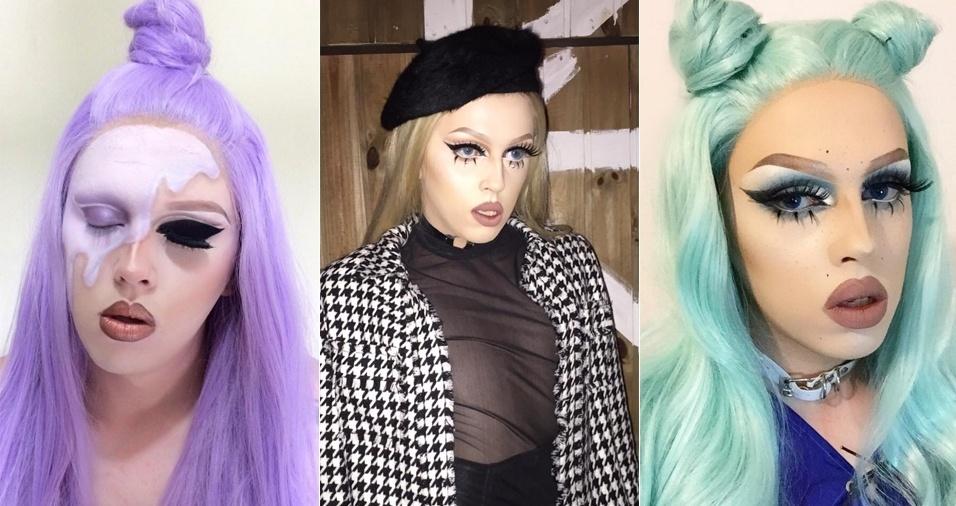 8. Miranda Preston - Queen de São Paulo, ela muda cabelo e sobrancelha quantas vezes for preciso para ficar ainda mais diva a cada look apresentado