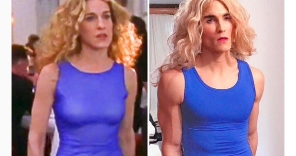 14. Ele tem compartilhado suas transformações, colocando lado a lado Carrie original e sua personagem, Carrie Dragshaw