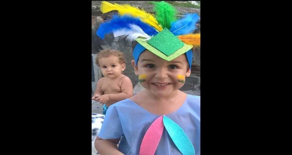 Jôse, de Catu (BA), enviou foto dos filhos Arthur e Murilo