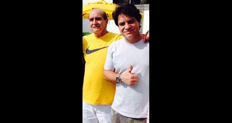 """Fabiano, de  Rio de Janeiro (RJ), e seu pai Luiz Marcos, """"presente agora em nossos corações. Saudades!"""""""