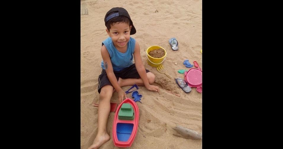 Berenice, de São Paulo (SP), enviou foto do filho Samuel, de seis anos