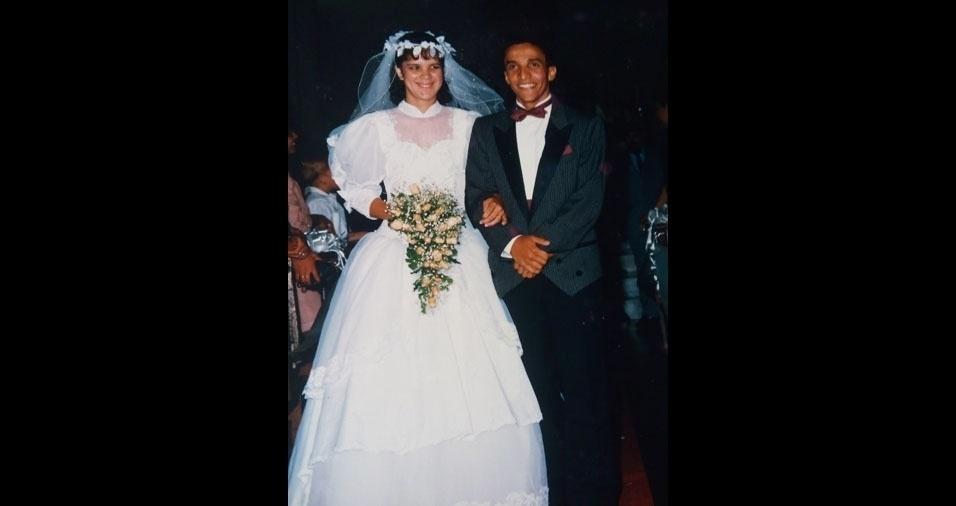 Rosineide Costa Souza e Osvaldo de Souza se casaram em 19 de janeiro de 1991, na Paróquia Nossa Senhora da Esperança, em São Paulo (SP)