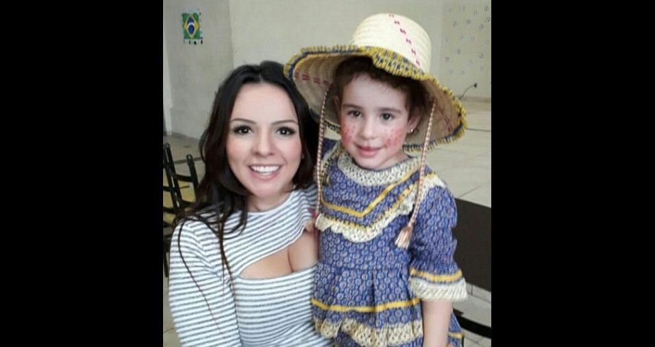 Valeria Spadotin e a filha Isabelle Helene, de Limeira (SP), também participaram do especial