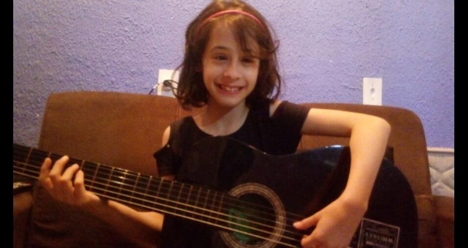 Alexia Pereira Medina, de dez anos, moradora de Mauá (SP)