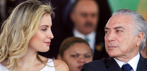 O presidente Temer e sua mulher, Marcela, em desfile do Dia da Independência