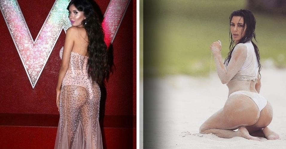"""15.mai.2017 - No Brasil, ela é conhecida como Susi Humana. Mas a semelhança com a boneca não está mais agradando Jennifer Pamplona. A jovem, de 24 anos, quer virar agora o 'clone' da Kim Kardashian, pelo menos no quesito bumbum. Para isso, a brasileira já gastou R$ 255 mil em procedimentos estéticos. """"Sou viciada em cirurgias e após ver a Kim Kardashian eu desejei me parecer com ela e ter suas curvas"""", declarou Jennifer ao Daily Mail. """"Estou determinada a ter um bumbum maior que o dela"""", afirmou a modelo"""