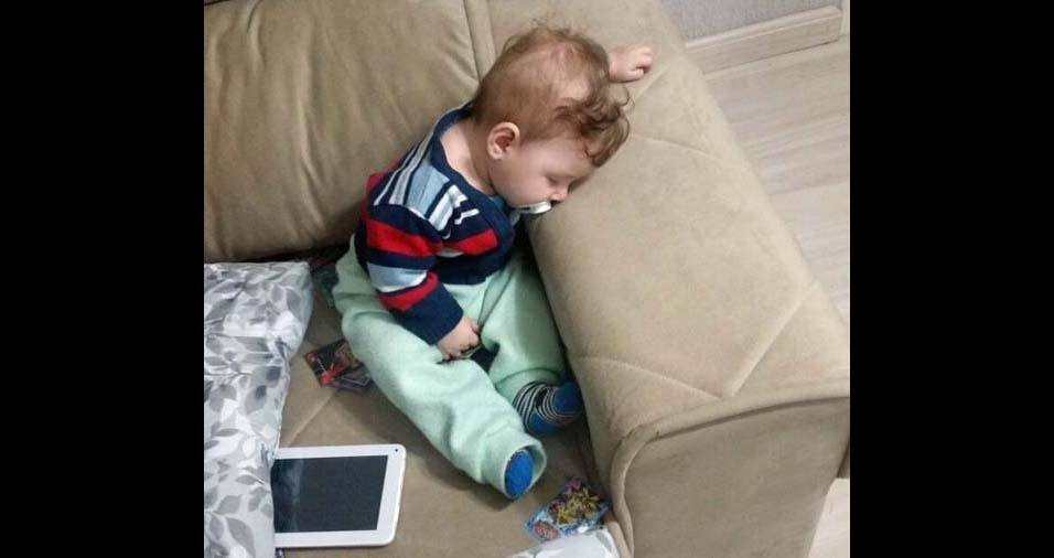 André, de Curitiba (PR), enviou foto do filho Erik