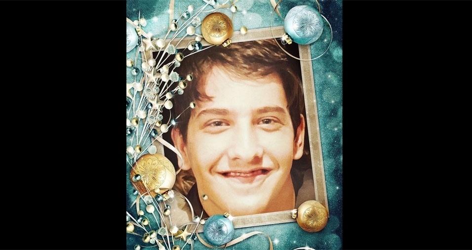 Silvia Proença enviou foto de seu tesouro, o filho Bruno, para comemorar o Natal no BOL
