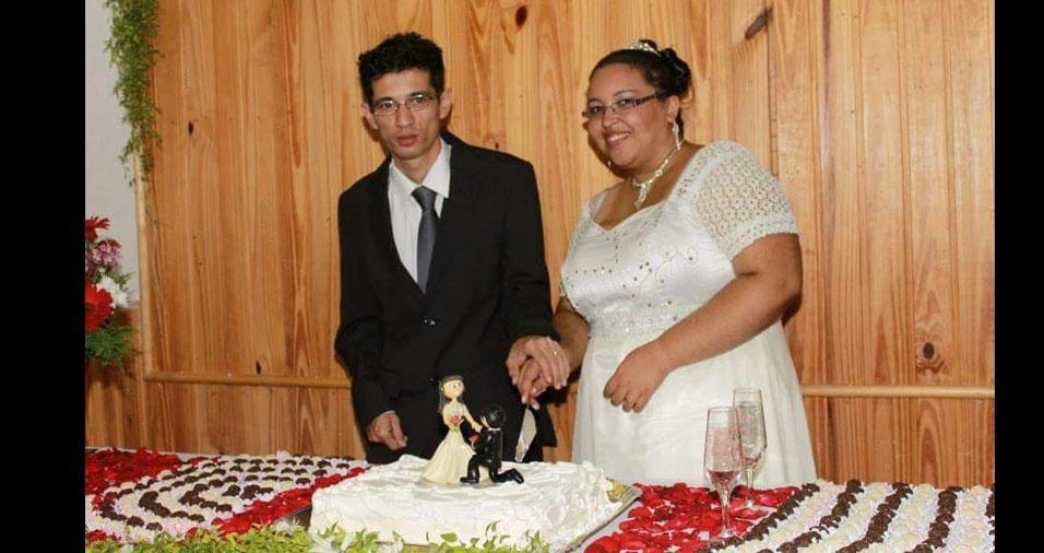 Luciano Ueno e Daniele Marques Ueno se casaram em Osasco (SP), em 2 de março de 2013