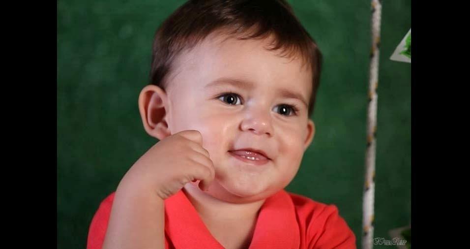 """Talita Fernanda enviou foto do filho Théo, de Bauru (SP): """"Eu te amo anjinho, para sempre!"""""""