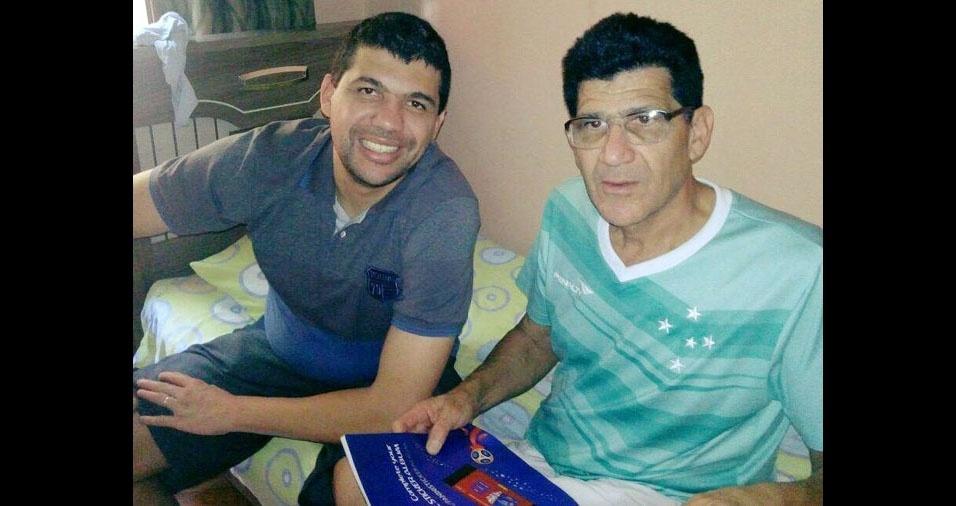 Erick com o papai Miranda, de Belo Horizonte (MG)