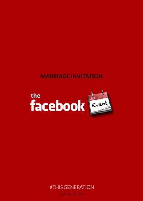 24.set.2015 - Convite de casamento? Só pelo Facebook
