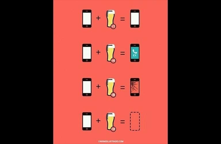 2.out.2015 - Combinação celular + cerveja nunca é uma boa opção