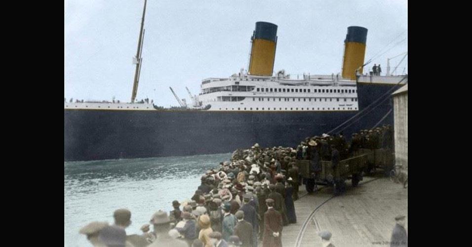 """A sigla R.M.S. significa """"Royal Mail Steamer"""", algo como """"navio a vapor de correspondência Real"""""""