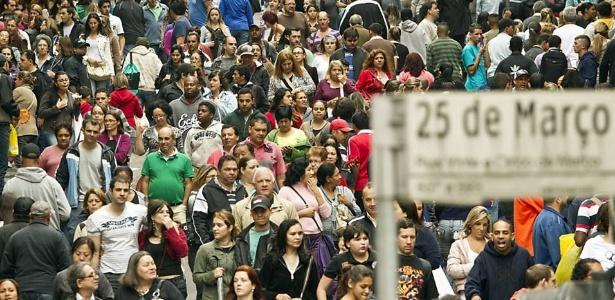 Brasil é o quinto país com maior população no mundo - Reprodução/Eduardo Knapp/Folhapress