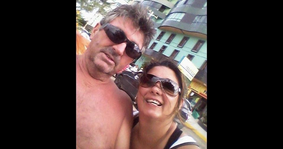 Tatiane Scotta, de Porto Alegre (RS), com o papai Adelmo