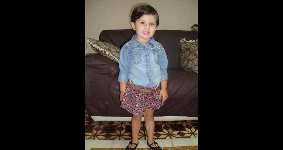 Emerson e Ana Paula, enviaram a foto da Sophia de cinco anos