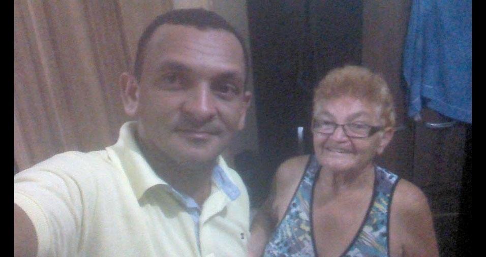 Eliezio Mendes com a mamãe Elisabete Mendes, de Marabá (PA)