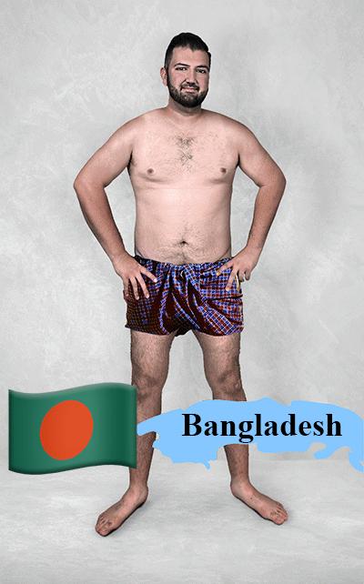 18.fev.2016 - O site Superdrug.com pediu para designers gráficos de 19 países diferentes editarem uma foto de uma pessoa com um físico normal nos Estados Unidos de acordo com os padrões locais. O resultado acima veio do Bangladesh