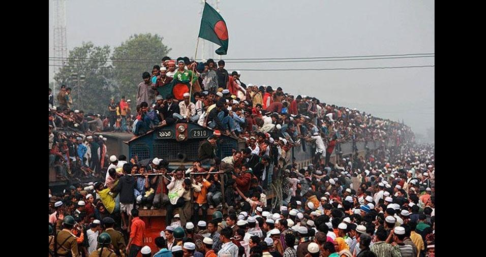 11. Trem em Bangladesh
