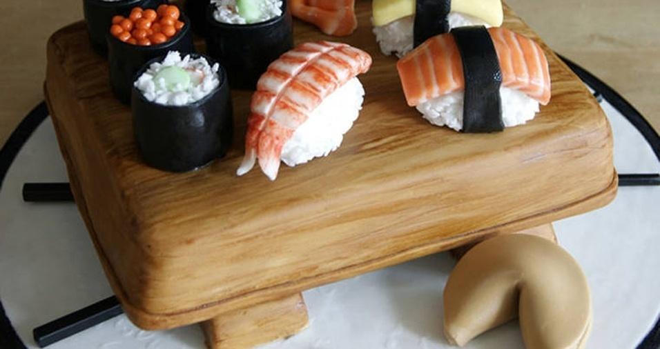 7. Sushi com direito a biscoito da sorte