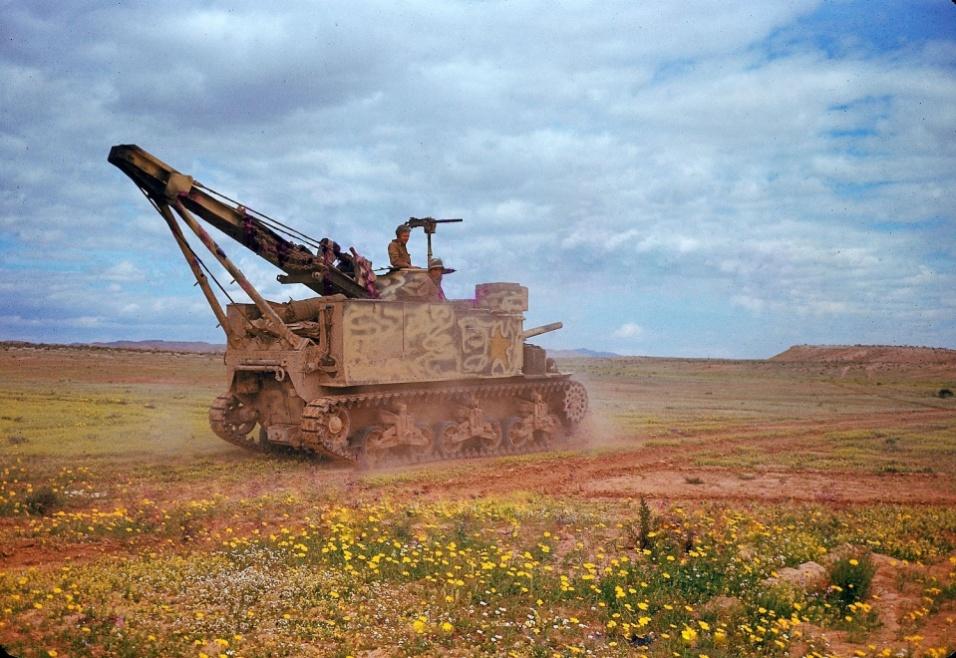 1943 - Tanque no vale de El Guettar, na Tunísia