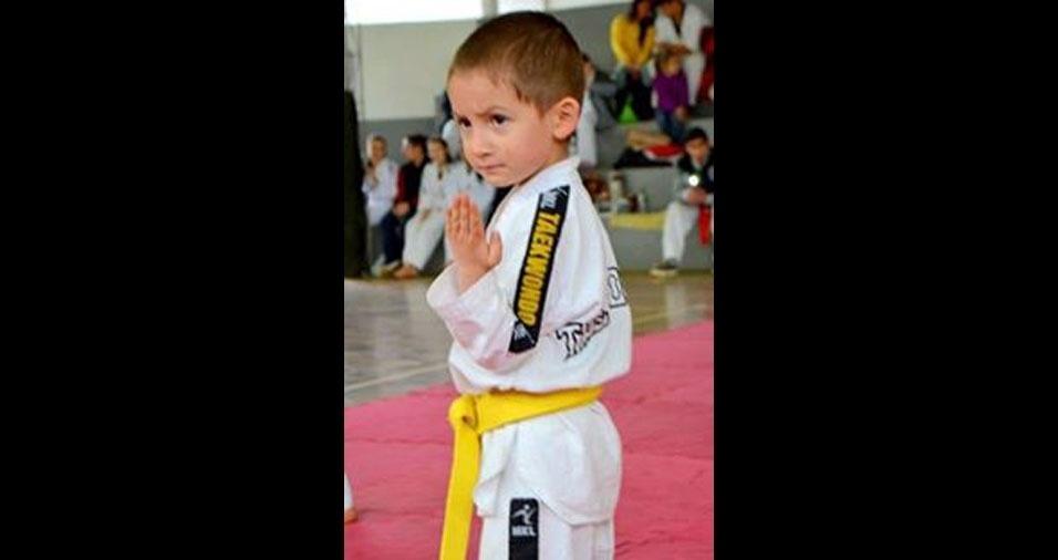 A mamãe Bianca Toller enviou foto do Augusto, de São Borja (RS)