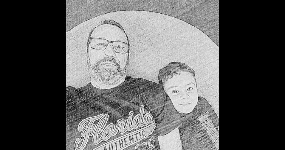 """Jorge com o filho Pedro: """"Um dia no shopping"""""""